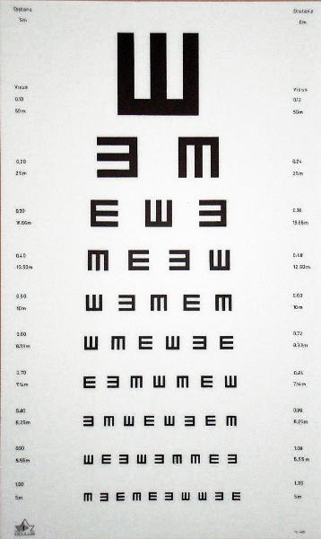 OCULUS tableau test vue E/M