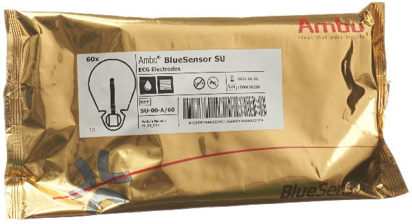 AMBU BLUE SENSOR EKG Elekt SU Bananensteck 60 Stk