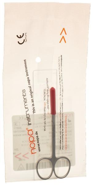 NOPA ciseaux à iridectomie droits 10.5cm p/p