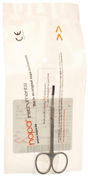 NOPA ciseaux à iridectomie courbes 10.5cm p/p