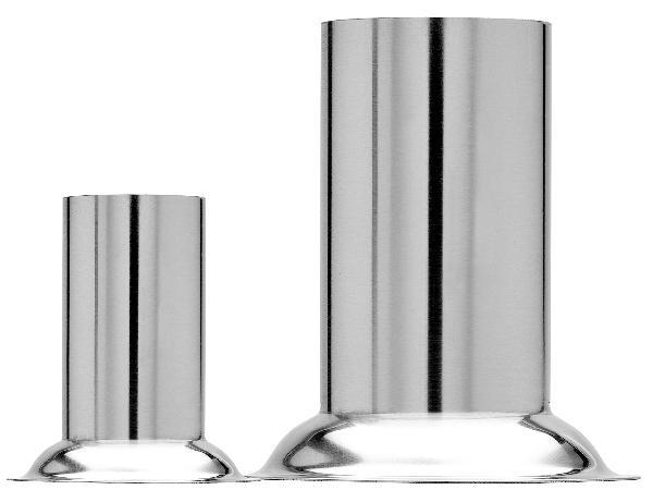 MEGRO cylindre 5x10cm inox