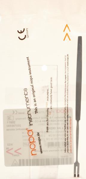 NOPA Wundhaken 2-zinkig 16cm stumpf